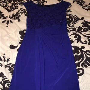 Blue Sparkle Top Homecoming/Prom Dress